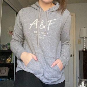 thin grey a&f sweatshirt